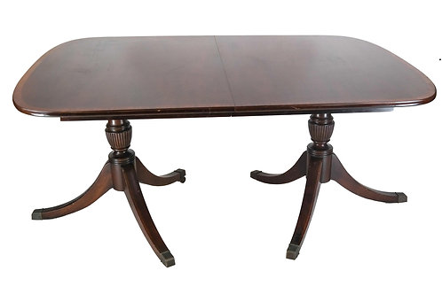 Francher Banded Mahogany Dining Table