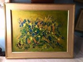 Mid Century Oil Clearable by Ruth Aussenberg
