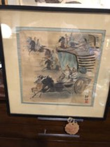 Antique Japanese watercolor