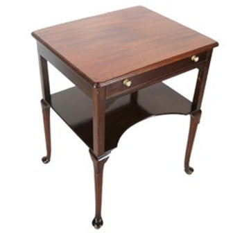 Antique Vintage Queen Anne-style mahogany  table