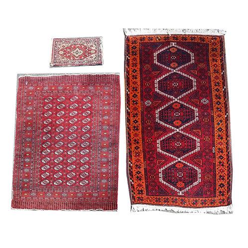 3 assorted oriental mats