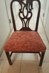 One of a Set of Ten Vintage Mahogany Chairs by Baker