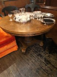 Round Oak Table circa 1905