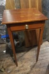 Antique American Sheraton one drawer stand