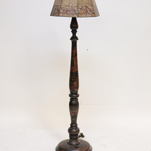 Lacquer Japaned & Chinoiserie Floor Lamp