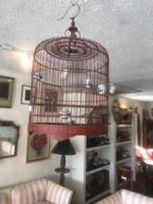 Red Lacquered Birdcage