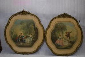 Pair of 19th Cent French hand colored engravings