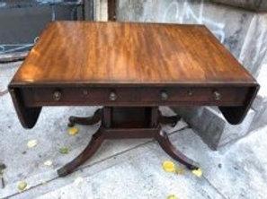 19th cent mahogany sofa table