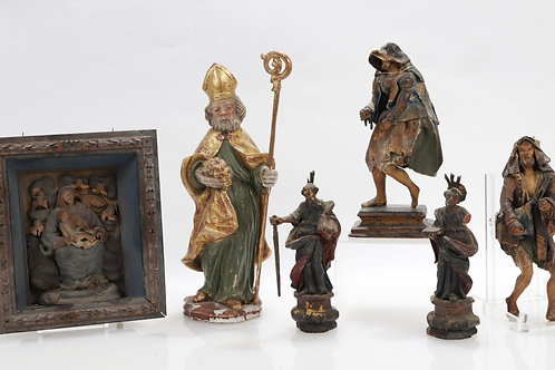 Four Neapolitan Creche Figures, Santos