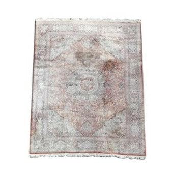 """Chinese silk rug. [166"""" x 119""""]."""