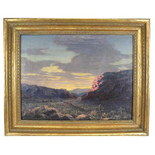 Frank Speyer Western Oil on Canvas