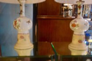 Pair of antique Chinese vases made into lamps