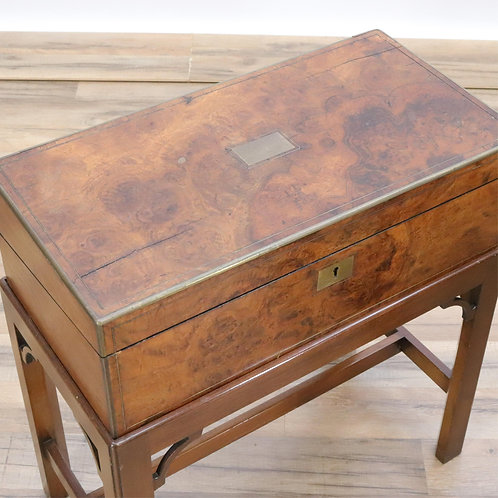 19th Century English Campaign Lap desk