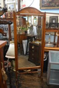 Antique English Cheval Mirror