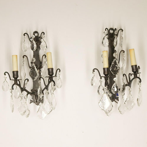 Pair of two Light Louis XV style Sconces