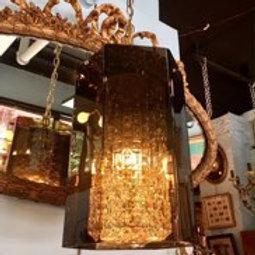 1970's Smoked Lucite Lantern