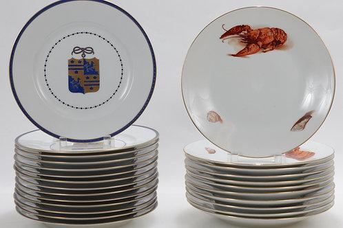 Ginori Crustaceans Ortug Armorial Plates