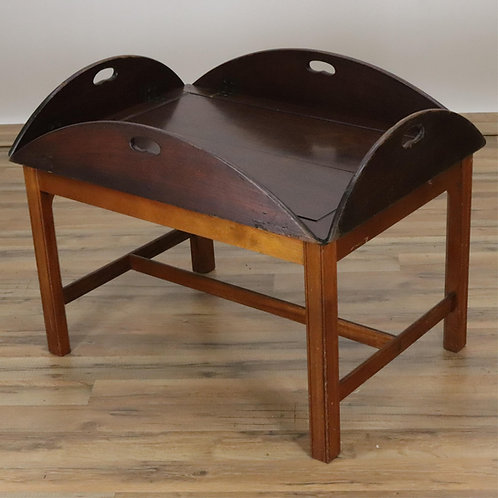 George III Style Mahogany Butler's Tray on later stand