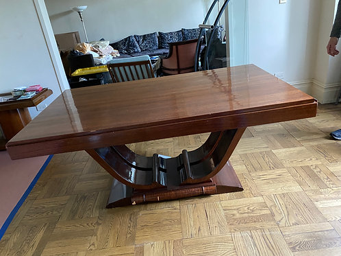 French Art Deco Fining table with 2 leaves