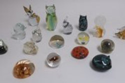 Collection of animal form paper weights
