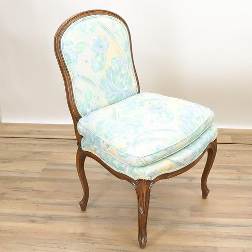 Armchair, upholstered in foliate chintz