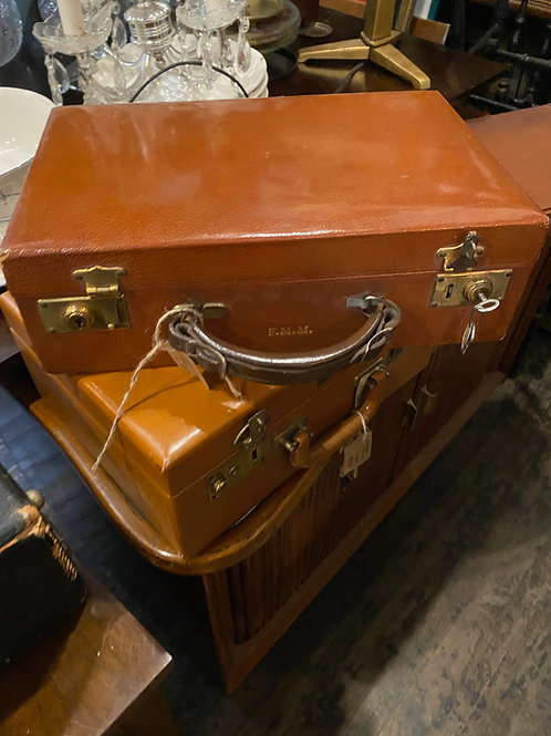 Two Leather Vanity Cases