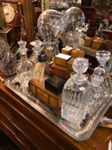 Decanters and boxes