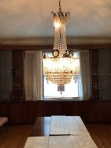Russian Crystal and Gilt bronze Empire Chandelier