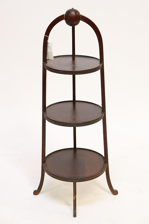 Regency Style Inlaid Mahogany Plate Stand