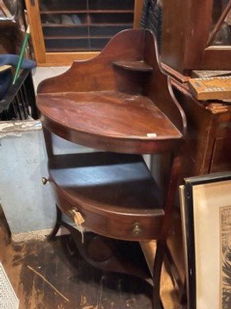 19th cent , English mahogany corner washstand