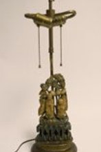 Antique Chinese Carved Lamp