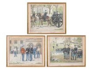 Gustav Brock 1887 Danish Military Prints
