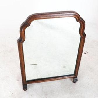 walnut circa 1900 shoe mirror