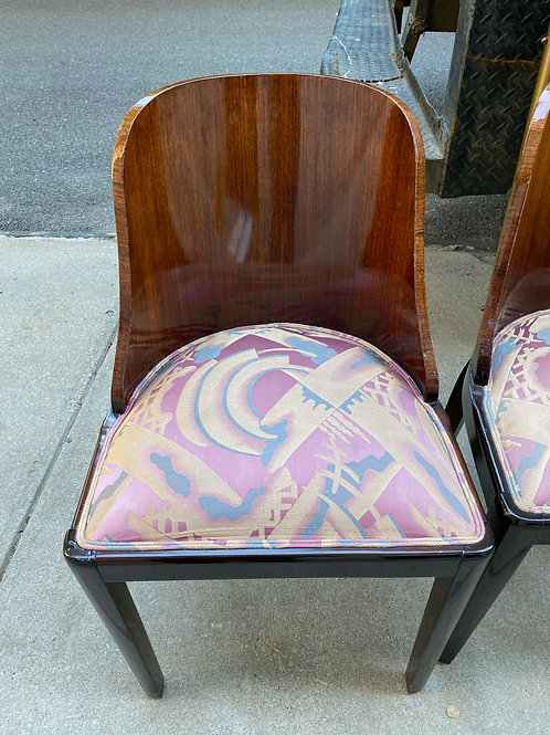 Set of French Art Deco Side Chairs