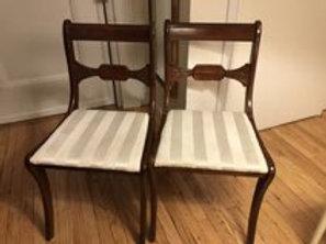 Pair of Mahogany Sabre Leg Chairs