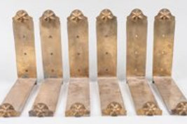 Set of Six Bronze Brackets