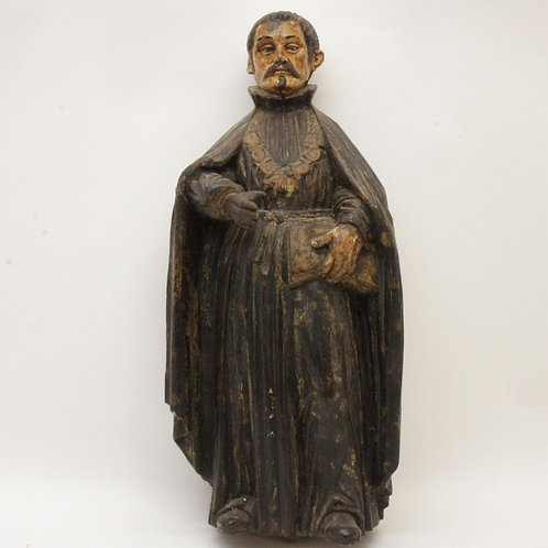 Antique Spanish Baroque style figure of a Saint