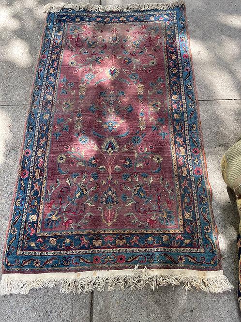 Semi Antique Kashan Mat
