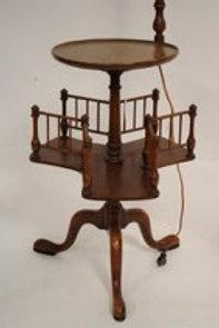 Mahogany Revolving Book Table lamp