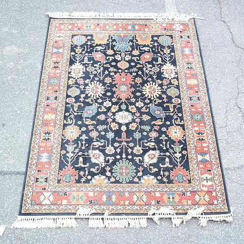 "Pair of machine made wool pile rugs. [7' 6"" x 5' 2""]"