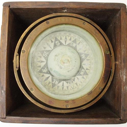 19th C. E. D. Ritchie & Sons Ship Compass