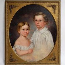 Portrait of Two Blond Children