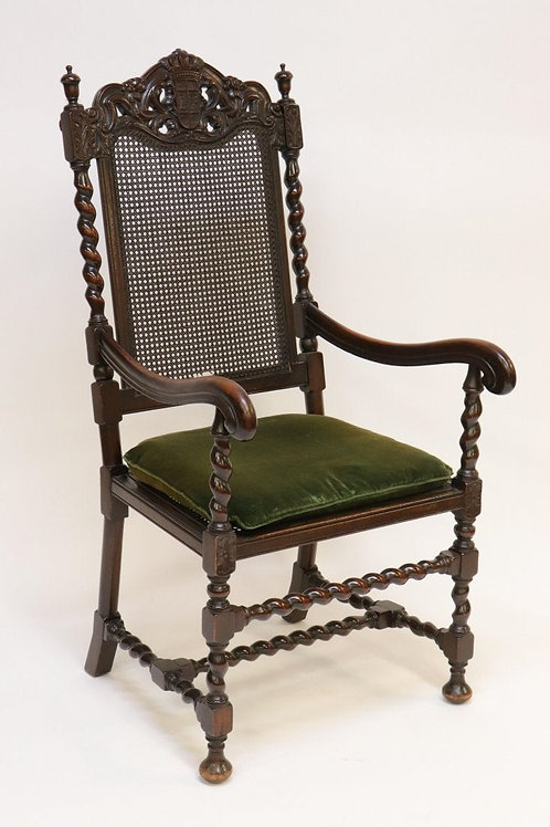 English Baroque Carved Armchair
