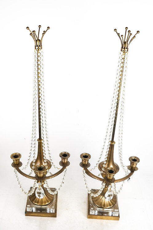 Pair of Three-Light Candelabra