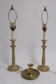 Pr. Gilt Bronze Candlesticks LAMPS
