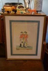 Antique 19th Century Color Fashion Prints