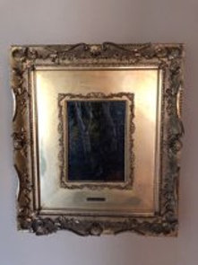 19th Century Forest Painting on Canvas