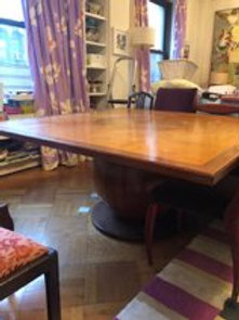 Dining table with an amazing sphere shaped base