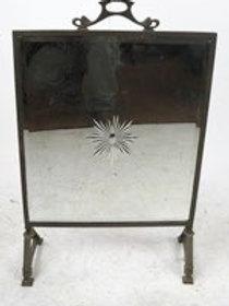 Antique Mirrored fire screen