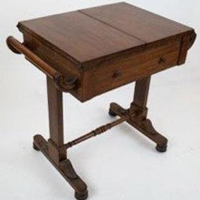 American Mahogany Single Drawer Drafting Table/Desk